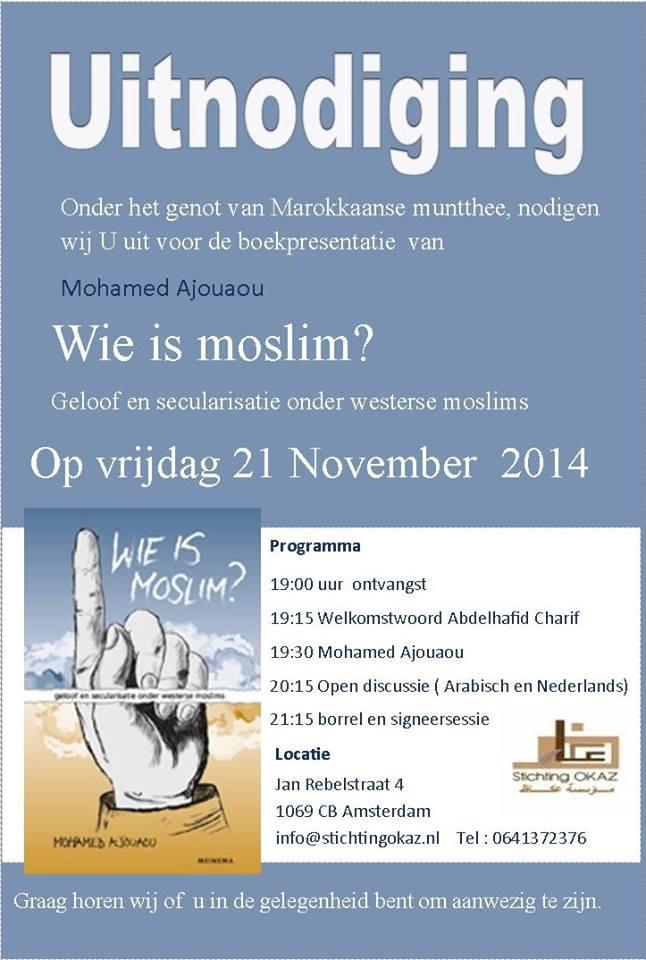 Boekpresentatie:  Mohamed Ajouaou   Wie is moslim?